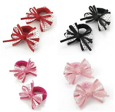 Girls Polkadot Hair Bows Bobbles Ponios Baby Little Girls Hair Bows Small