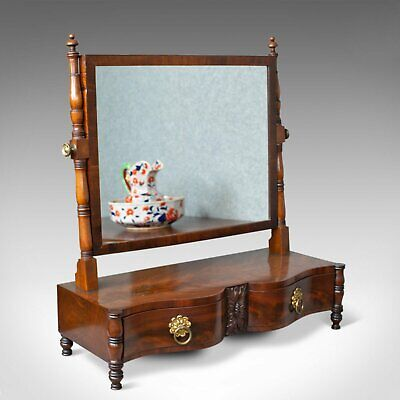 Antique Dressing Table Mirror, Mahogany, Vanity, Platform, Toilet, Circa 1890