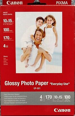Canon Glossy Photo Paper 10x15cm 170g/m² 100 feuilles (GP-501)