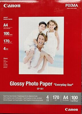 Canon Glossy Photo Paper A4 170g/m² 100 feuilles (GP-501)