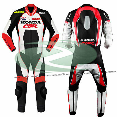 New Motorbike leather suit honda cbr red and white leather suit 1 piece size XS