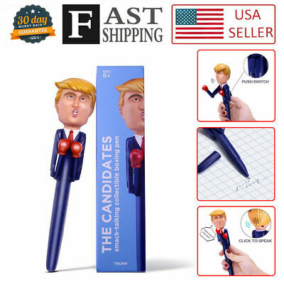 Fashion Donald Trump's REAL VOICE Talking Pen - 8 Different Sayings Hot