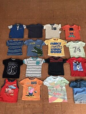 Boys Clothes Bundle T-shirts Tops Age 3-4 Years