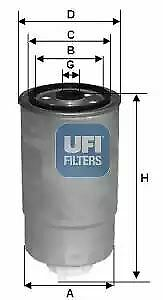 2452801 UFI Fuel Filter Diesel Replaces 52126244AA,52126244AB,52126244AC