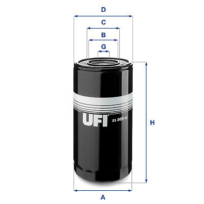 2330500 UFI Oil Filter Oil Spin-On