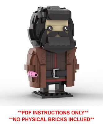Lego Brickheadz - Harry Potter Hagrid - MOC Creation - PDF Instructions Only
