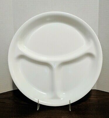1 CORELLE Livingware Winter Frost White Divided Dinner or Luncheon Plate *NEW*