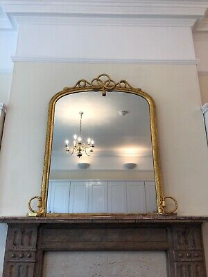 mirror gilt and gesso mould 19th century fully restored with hanging plates