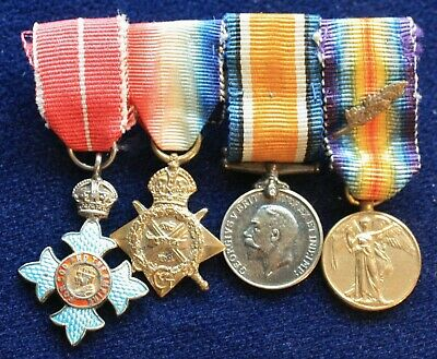 WW1 1914 Star Trio miniature group with Order of the British Empire