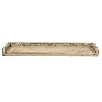 New Primitive Rustic Antique White WOOD TOILET BACK TRAY Organizer Cover