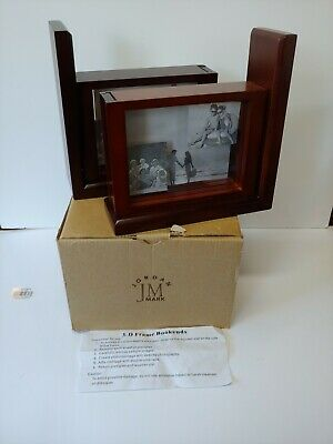 NIB Jordan Mark Solid Wood Bookends/3D PICTURE/ Photo Frames