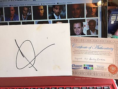 """Andy Garcia """"the Godfather"""" Genuine Hand Signed Autograph Large Index Card + Coa"""