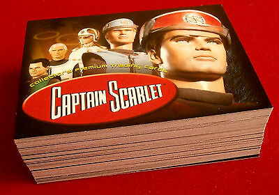 CAPTAIN SCARLET - Cards Inc - COMPLETE BASE SET of 72 Trading Cards