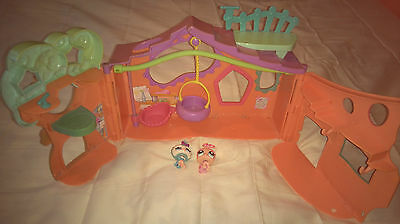 Littlest Pet Shop clubhouse + ladybird and parrot figures - Fast postage