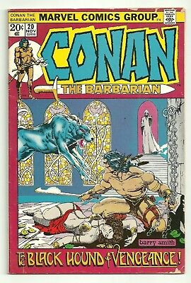 Conan The Barbarian #20 Marvel comic book The Black Hound of Vengeance