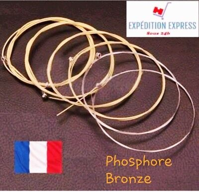 Set jeu de 6 cordes guitare acoustique PHOSPHORE  BRONZE.