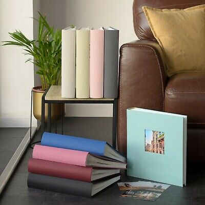 Traditional Photograph Album. 30x31cms 50pages/100sides Linen Cover in 8 Colours