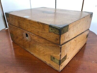 Small Vintage Antique Writing Slope, Chest Box.
