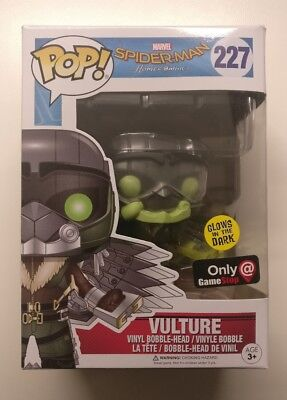 Funko Pop Marvel Spiderman Homecoming Vulture Glow Gamestop Exclusive