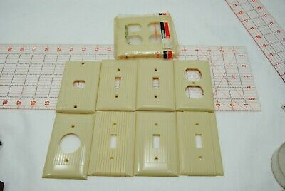 MIXED Lot of 9- Sierra Electric, P&S and GE Outlet Plate Covers Made in USA
