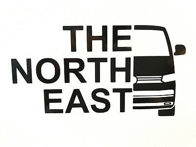 VW T6 Transporter 'The North East' Vinyl Decal Sticker