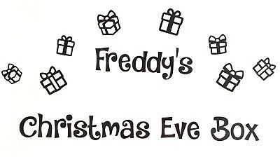 Personalised Christmas Eve Box Vinyl Decal Sticker Bundle - Choice of Colours