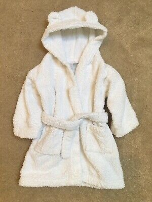 The Little White Company Hydrocotton Baby Robe 6-12 Months