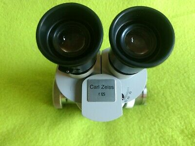 Carl Zeiss f 125 63 t* Surgical Microscope with 12,5x Eyepiece Binoculars head