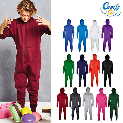Comfy Co Kids Hood Zip Up All In One (CC001J) - Boys Girls Jumpsuit