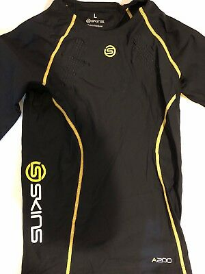 48144c470d Mens/unisex Skins A200 compression Short sleeve Top. SkinTemp, UV50 XS, S