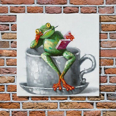 Pop Art Frog Hand Painted Canvas Oil Painting Contemporary Art Animal Painting