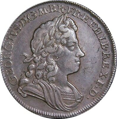 George I, Half-crown, 1720. Edge Sexto. Rare. Nr Extremely Fine. Spink £4500.00
