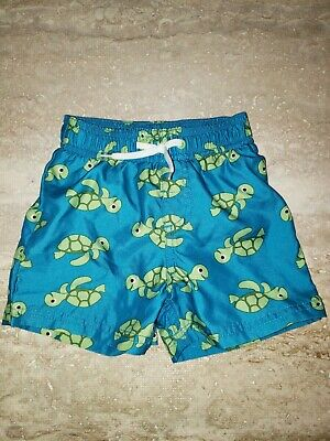 4ebe0733b8997 Boys Gymboree Sea Turtle Swim Trunks Board Shorts Swim Size 12/18 Months