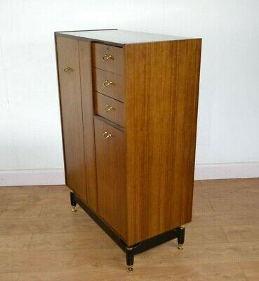 G PLAN Tall Boy Tola And Black / Librenza 60s Mid Century E.Gomme