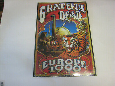 Greatful Dead Europe 1990 Metal Sign Rick Griffin Embossed Letters & Figures