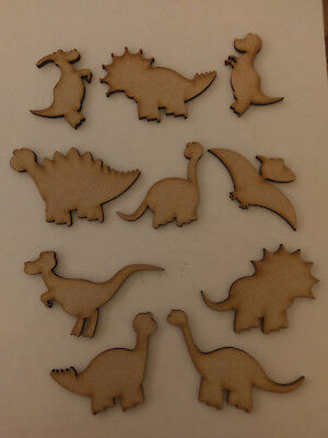 Wooden 3mm MDF Dinosaurs Craft Cards Decorations Scrapmaking  Embellishments