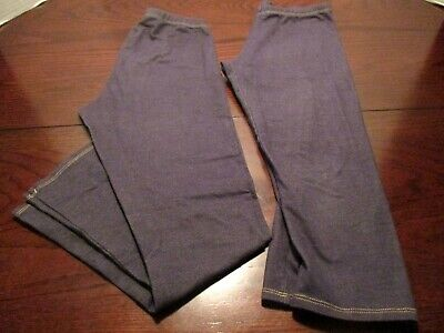 Lot of 2 Faded Glory leggings pant/capri girls size XL (14/16)