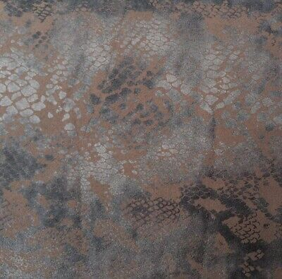 Faux Suede Leather 'Reptile I', (1.95m x 1.35m piece) dress fabric, upholstery
