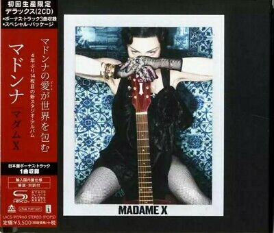 "Japan Bonus Tracks-DOUBLE SHM-CD-Hardcover Book! Madonna ""Madame X"" 2019"