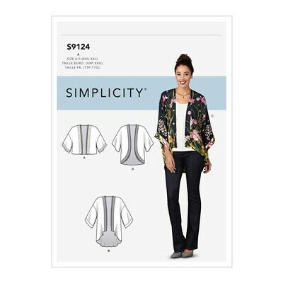 Simplicity Sewing Pattern 1318 Misses Sz 4-26 Easy Kimono Jackets Tops 4 Styles