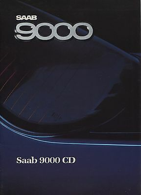 Saab - 9000 CD brochure/prospekt/folder Dutch 1988