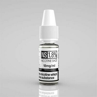 Nicotine Shots 18mg Nic Shot 10ml Bottle Genuine Flavourless Premium TPD UK Made