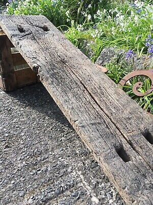 Rustic Antique Elm or Oak Wooden Pig Bench Coffee Table Butchers Block Top ONLY