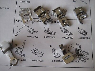 Accessories for SINGER Sewing Machine Model 6510 Including SIX Presser Feet