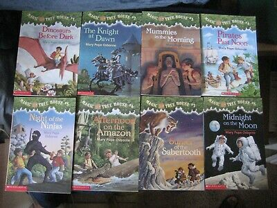 Magic Tree House by Mary Pope Osborne ~Lot of 8 Chapter  BOOKS~( sequence 1-8)