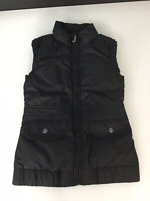 Juicy Couture Girls Body Walmer Gilet Black Gold Size Age 10 Years In Vgc