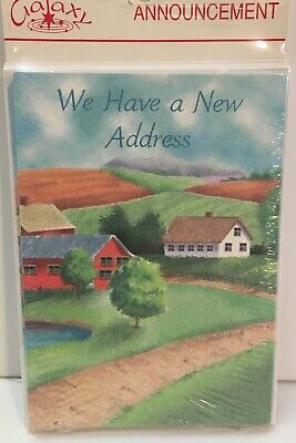 WE HAVE A NEW ADDRESS ANNOUNCEMENT CARDS 8cards 8envelopes New