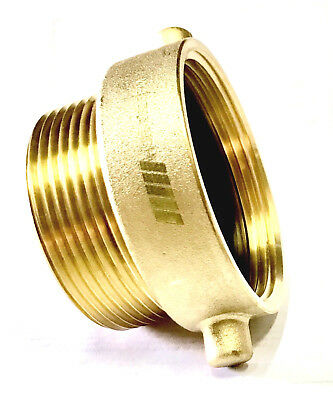 "NNI Fire Hose Hydrant Pin Lug Adapter 2-1/2"" Female NST x  2-1/2"" Male NPT"