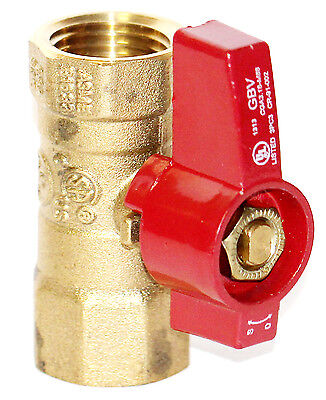 "1/2"" Female NPT GAS BALL VALVE BRASS AGA/CGA/UL"