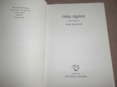 Dick Francis Odds Against 1st edition 1st printing 1965 Michael Joseph Hardback